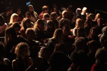 Audience in Chelsea Theatre for Readings from Syria Speaks, 18 November 2014