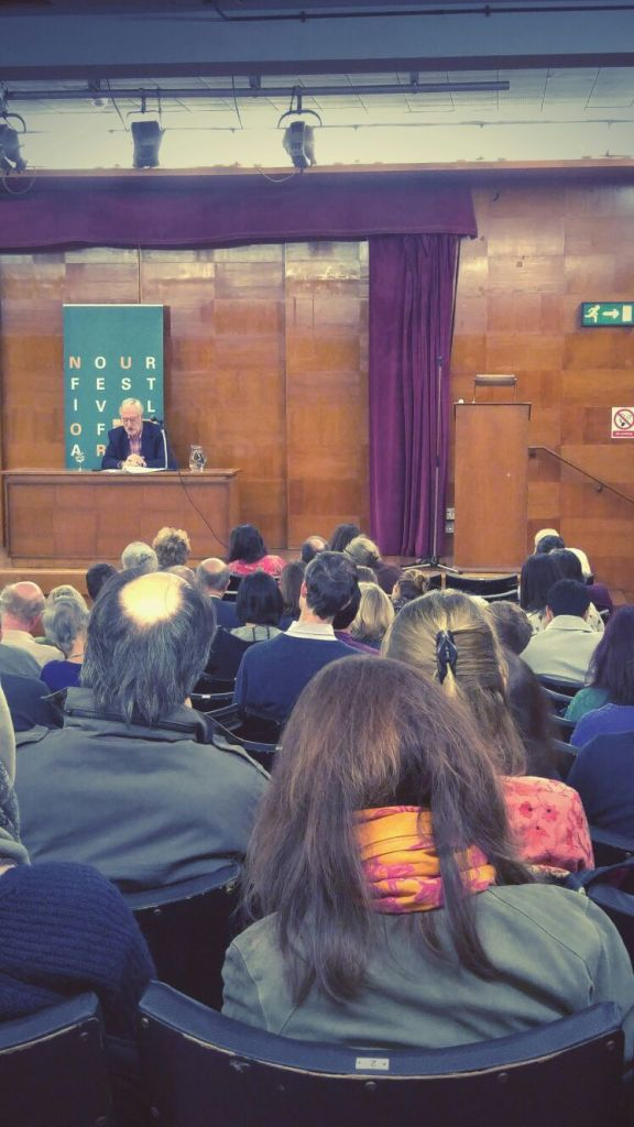 audience at the Nour Festival Talk of John McHugo's Syria: A Recent History
